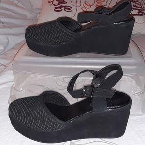 Cordani calzature round toe wedge sling back